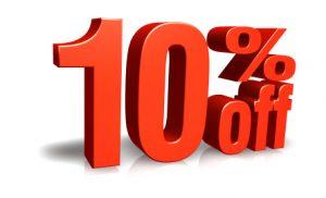 10% speedy paper discount